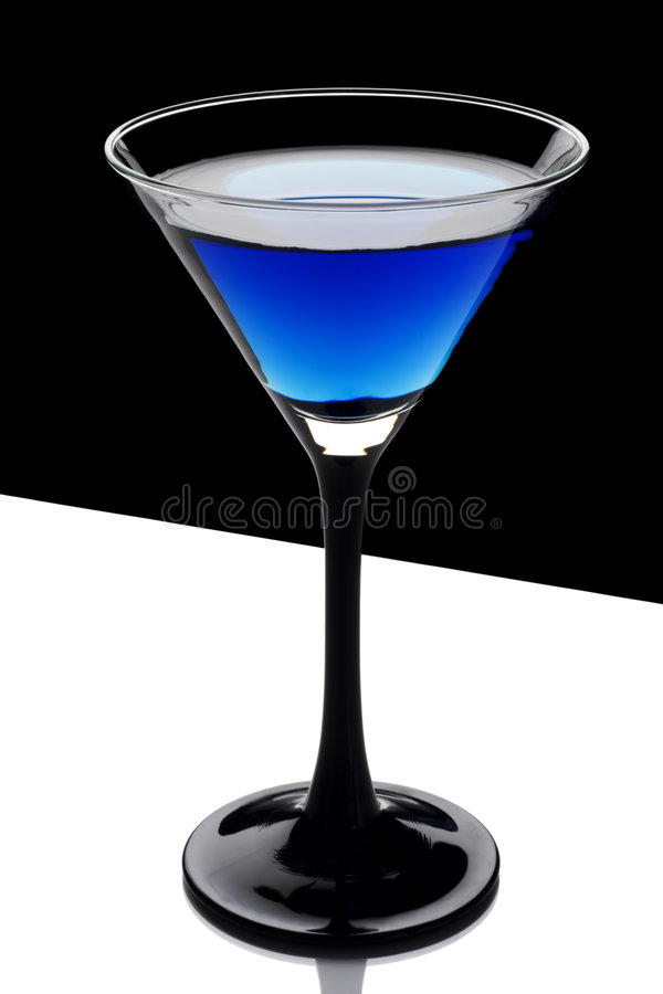 Cool blue cocktail royalty free stock images