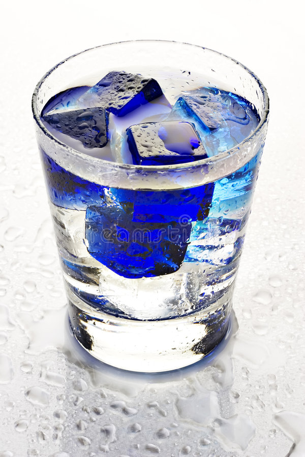Cool blue cocktail royalty free stock image