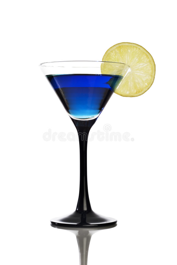 Cool blue cocktail stock photography