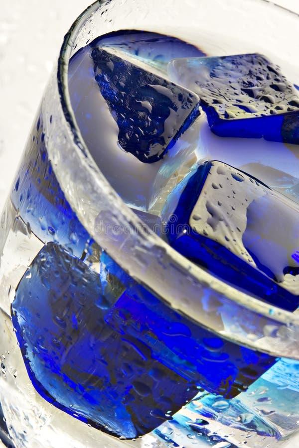 Cool blue cube stock photos