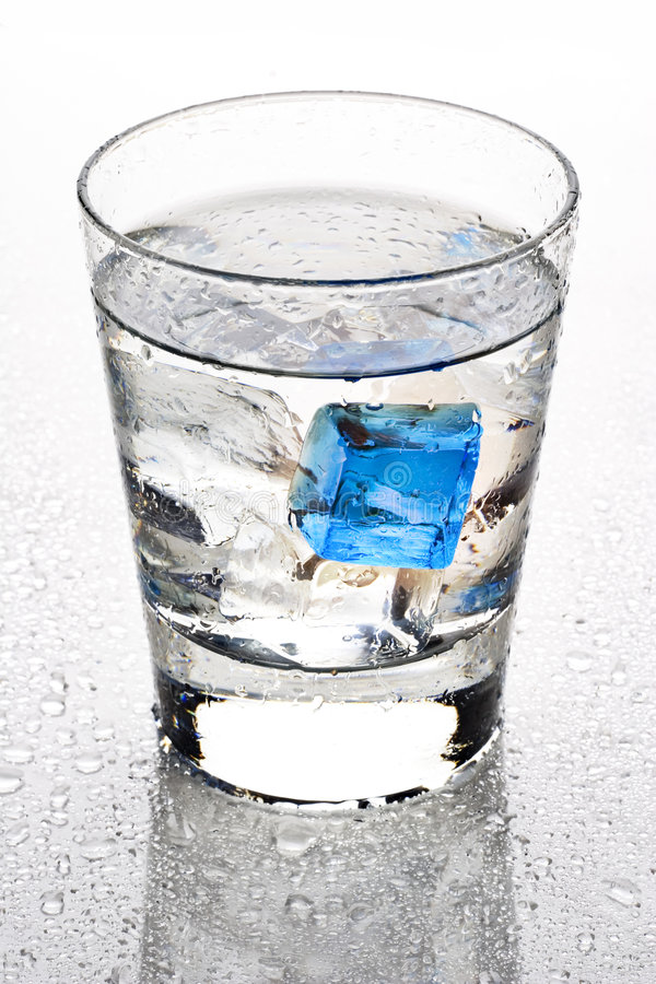 Cool blue cube royalty free stock image