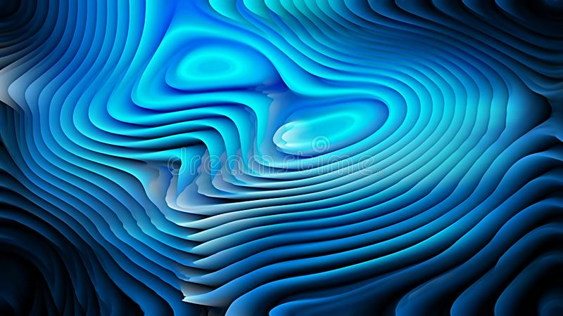 Cool Blue 3d Abstract Curved Lines Texture Beautiful elegant Illustration graphic art design Background. Image royalty free illustration