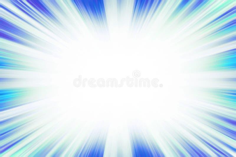 Cool blue starburst explosion vector illustration