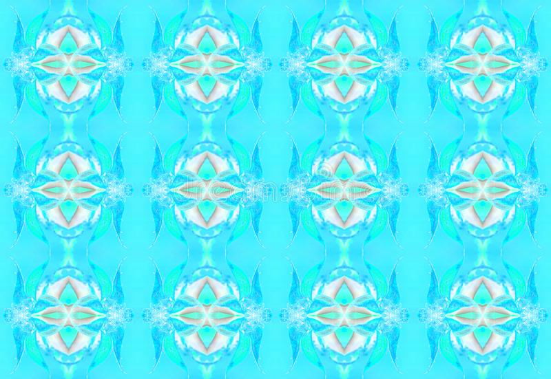 COOL BLUE AND WHITE REPEAT PATTERN. Image of a repeat pattern with cool blue hues and white shapes vector illustration