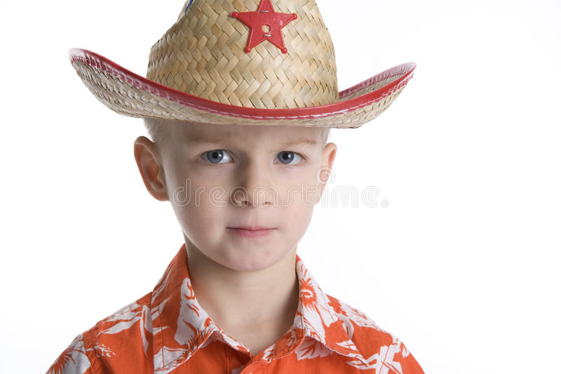 Download Cool Boy With Sheriff Hat stock image. Image of serious - 15369319