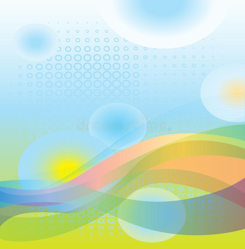 Dreamy Abstract Cool Waves background royalty free illustration