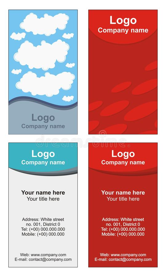 Cool business cards templates royalty free illustration