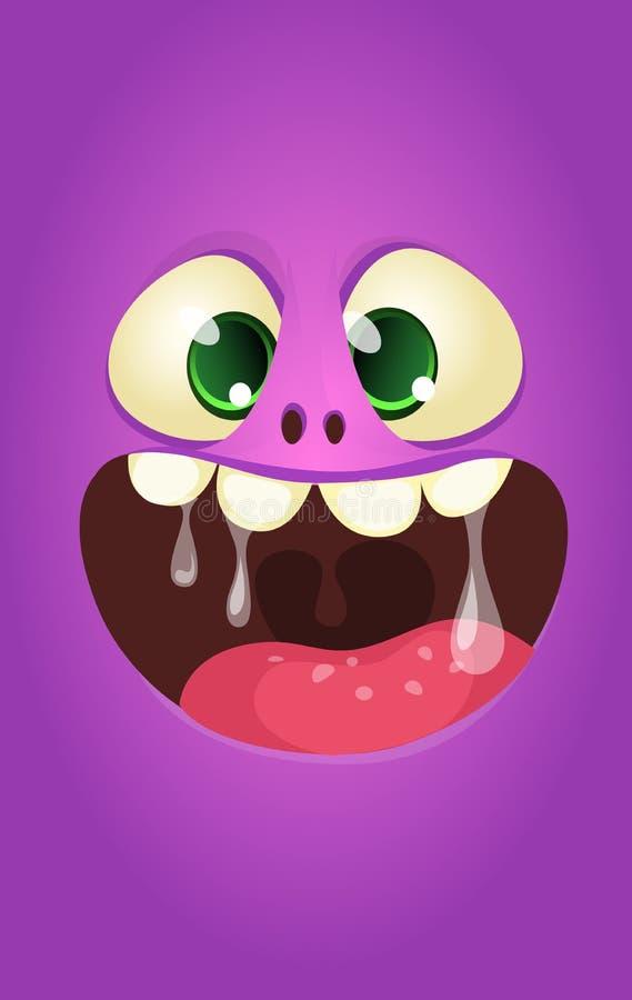 Cool cartoon monster face. Halloween illustration. Cool cartoon monster face. Halloween illustration royalty free illustration
