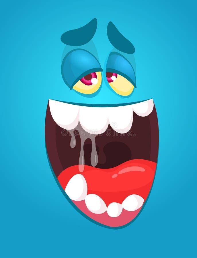 Cool cartoon monster face. Halloween illustration. Cool cartoon monster face. Halloween illustration stock illustration