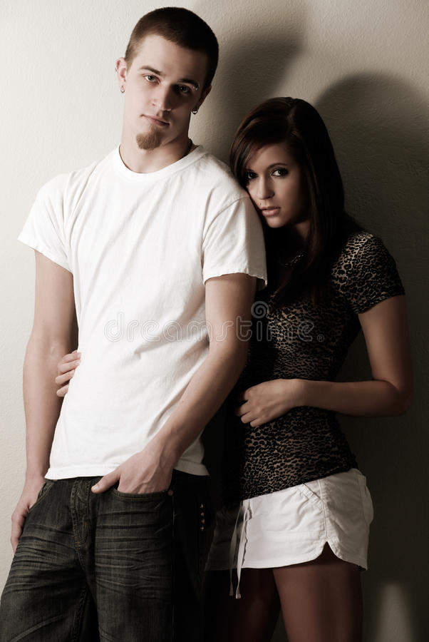 Download Cool casual young couple stock photo. Image of cute, pretty - 18922660