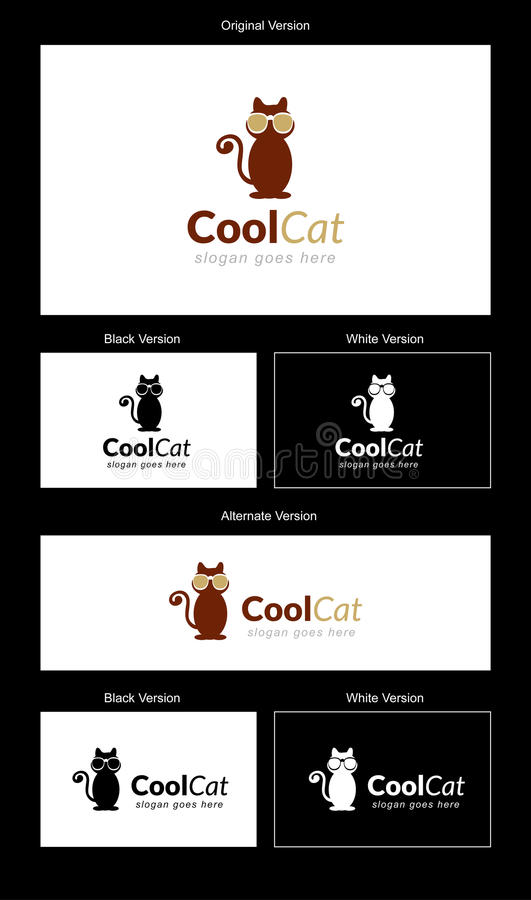 Free Cool Cat Logo Design Royalty Free Stock Image - 34217956