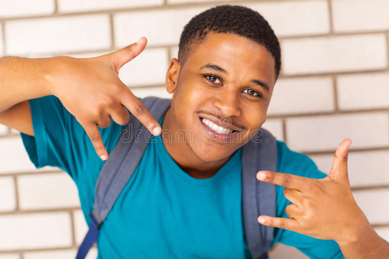 Cool college student stock photography