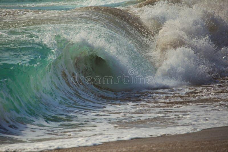 Cool crashing wave stock photo