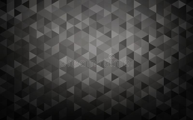 Black triangle crystals modern background. vector illustration