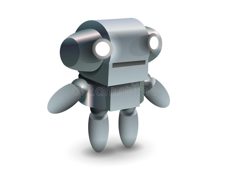 Cool And Cute Robot From Future Royalty Free Stock Image