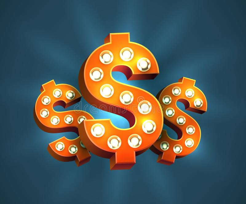 Decorated Dollar Sign vector illustration