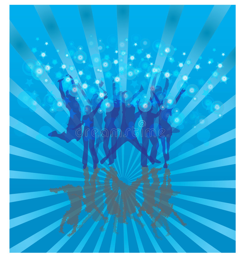 Download Cool dance on blue stock vector. Image of blow, colors - 7703144