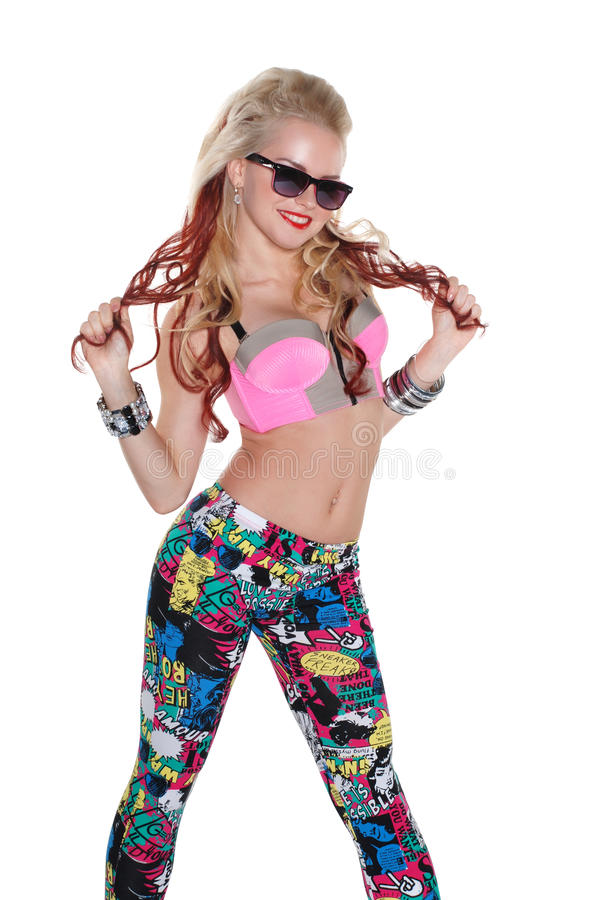 Download Cool Dancer Girl In Sunglasses Stock Photo - Image: 26288550