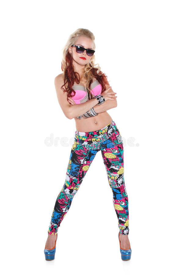 Download Cool Dancer Girl In Sunglasses Stock Image - Image: 26288555
