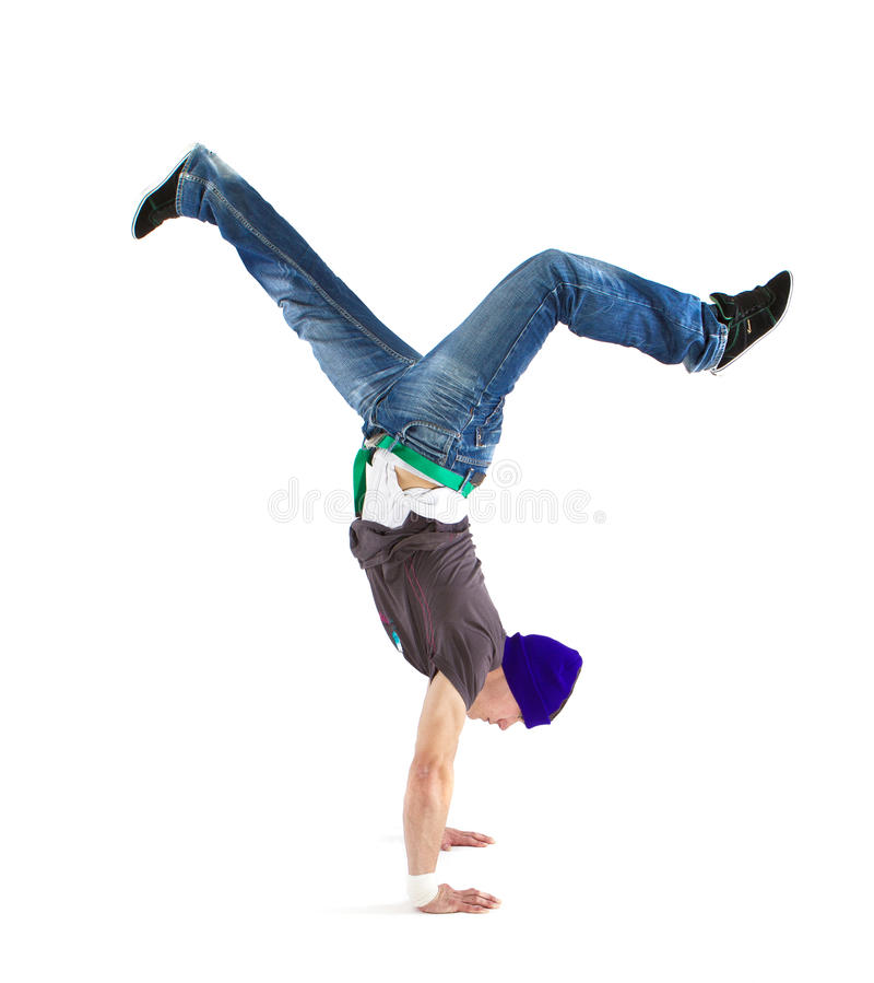 Cool dancer showing his skills stock image
