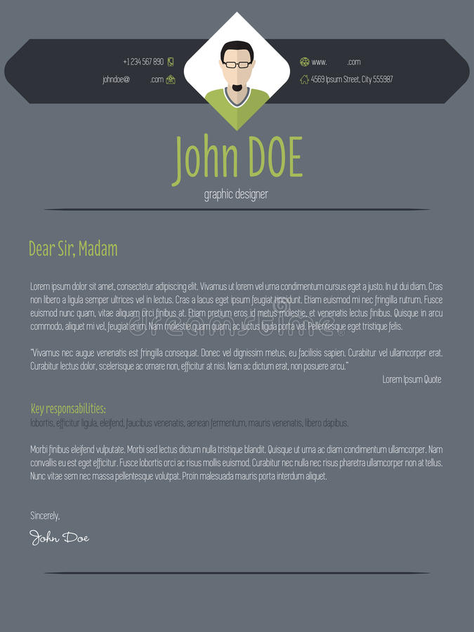 cool resume cv template with business suit background