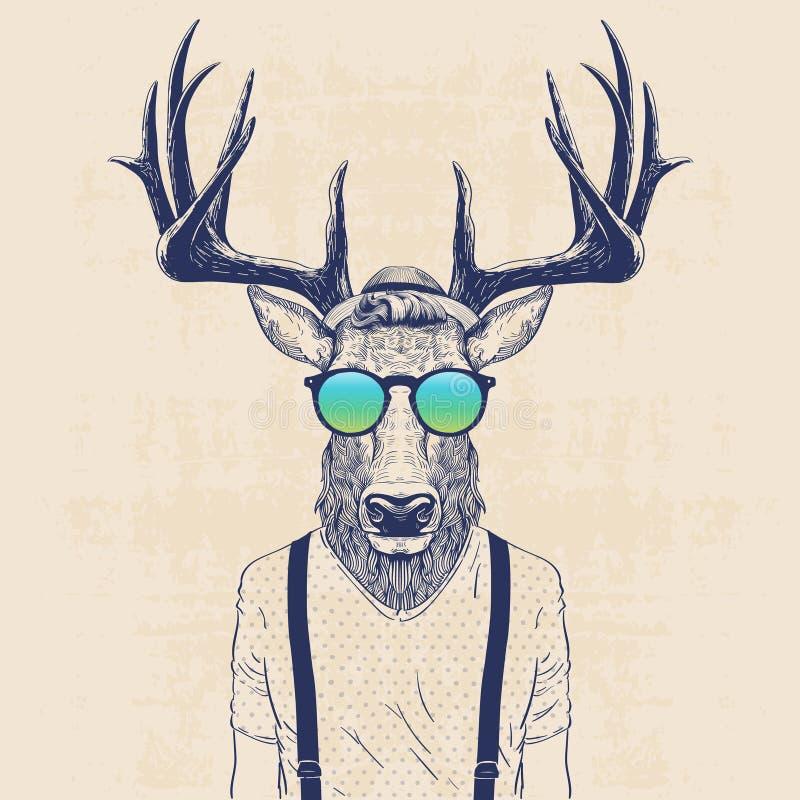Cool Deer Stock Vector Illustration Of Illustration