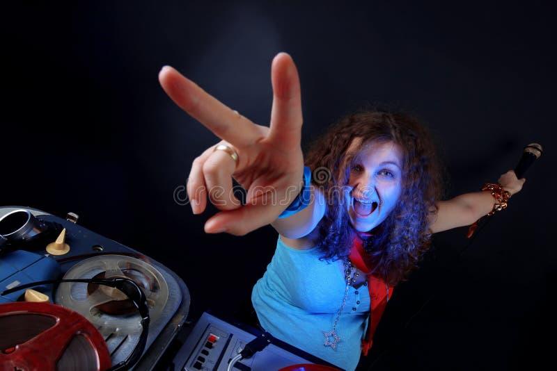 Download Cool DJ stock image. Image of retro, club, female, disco - 23063017