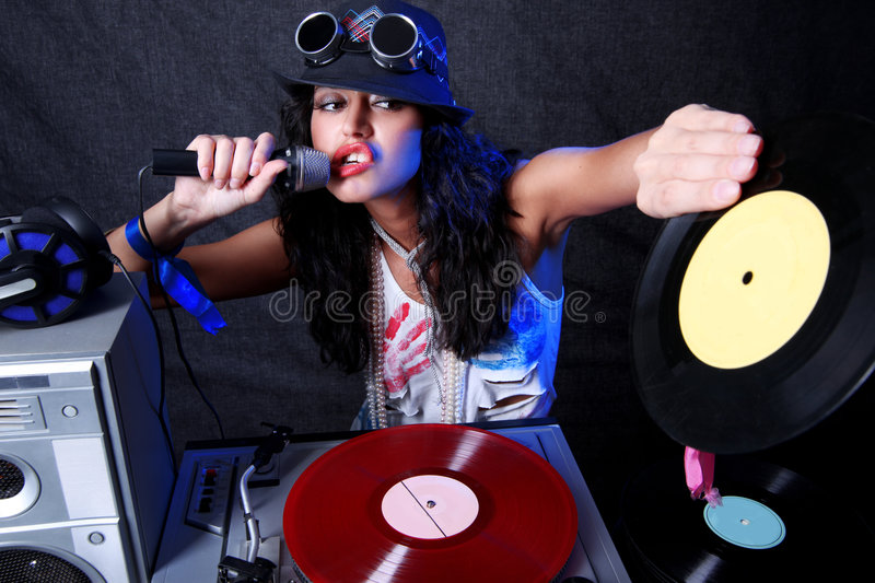 Cool DJ In Action Stock Image