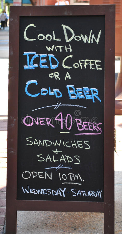 Download Cool down sign stock image. Image of lunch, board, outside - 14899149