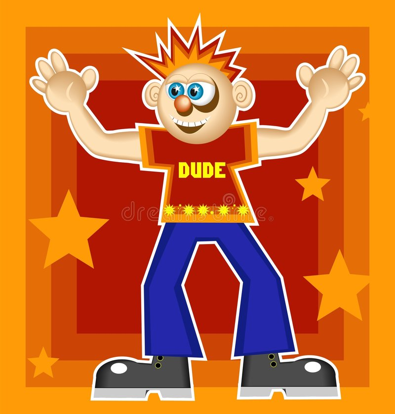 Cool Dude royalty free illustration