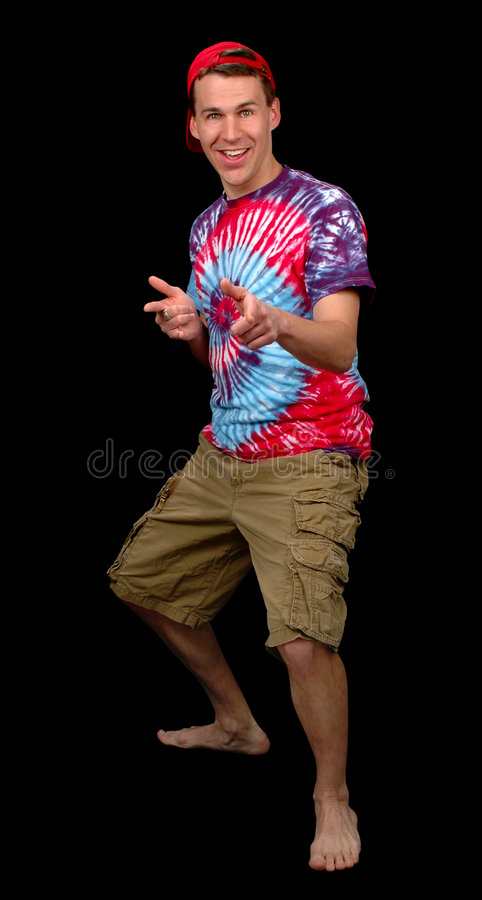 Cool Dude Pointing. (With Clipping Path royalty free stock photo