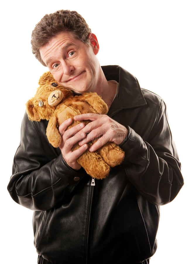 Download Cool Dude with Toy stock photo. Image of baby, look, jacket - 18241904