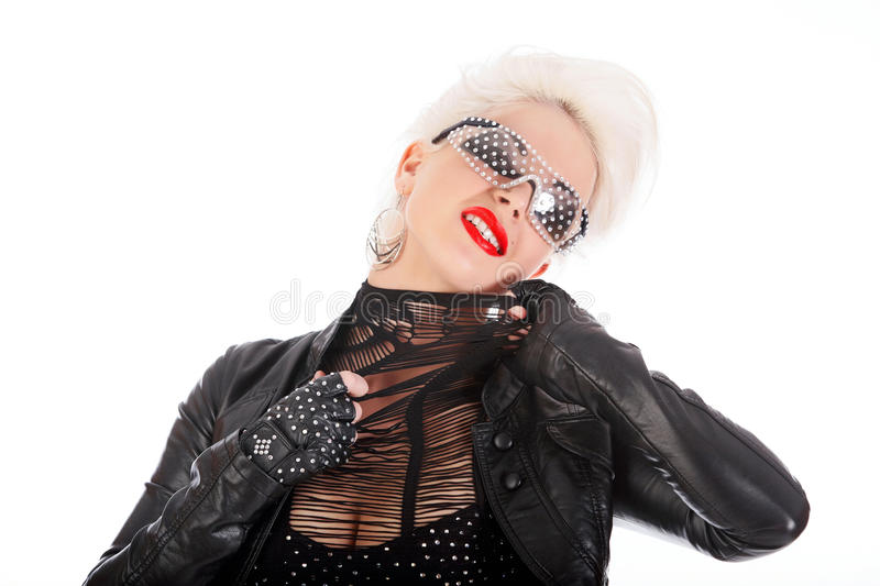 Cool Funky Girl Royalty Free Stock Photo