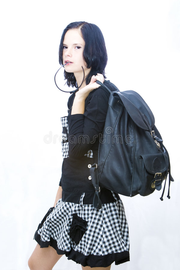 Cool girl student stock image