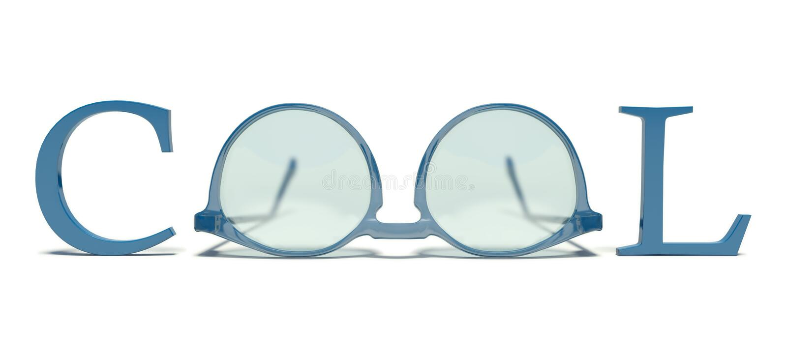 Cool glasses stock illustration