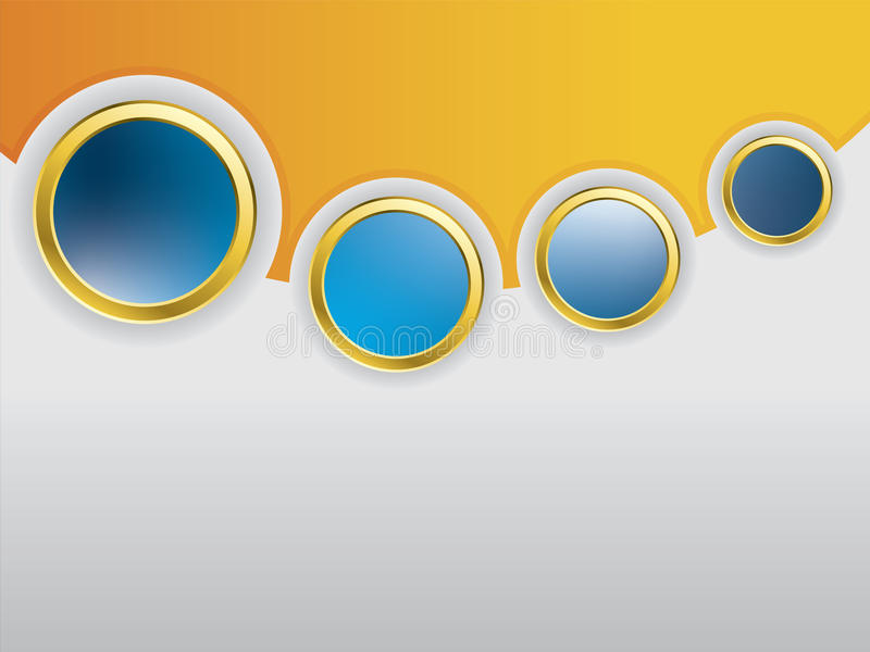 Cool glossy buttons with shadows stock illustration