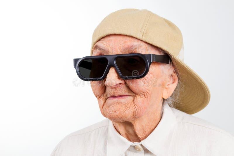 Cool grandma stock photos