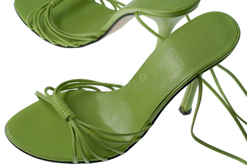Cool green shoes stock images