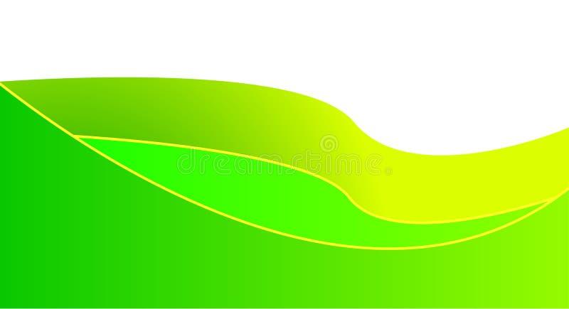 Cool green waves vector illustration