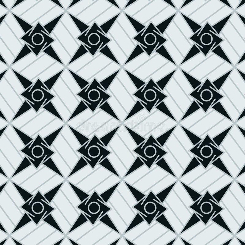 Cool grey blue stars modern geometric pattern vector illustration