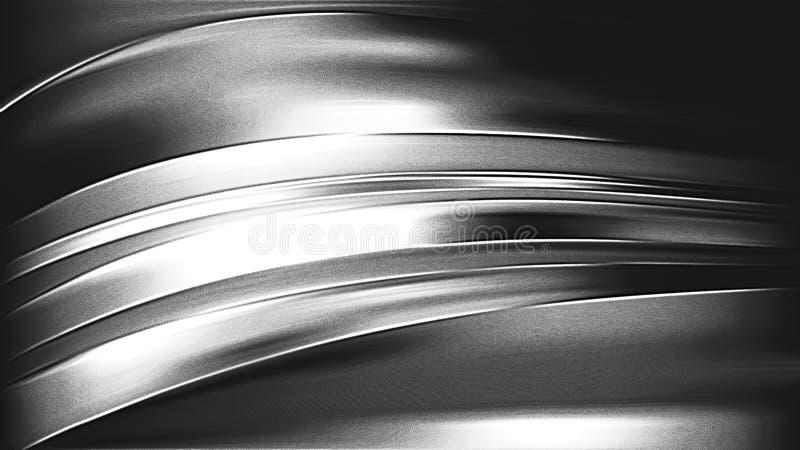 Cool Grey Metal Background stock illustration