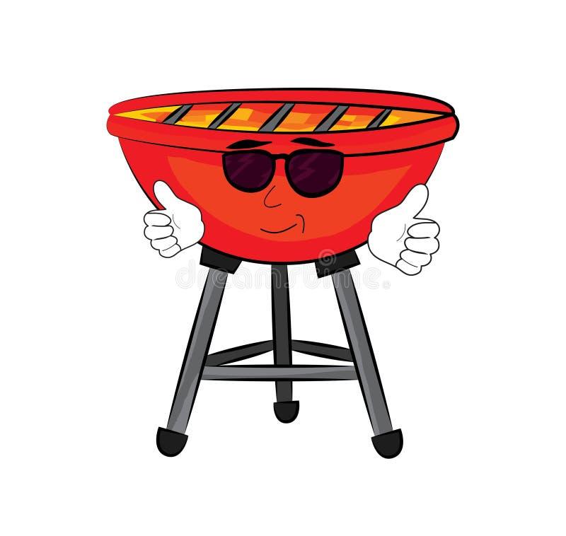 Cool grill kreskówkę ilustracji