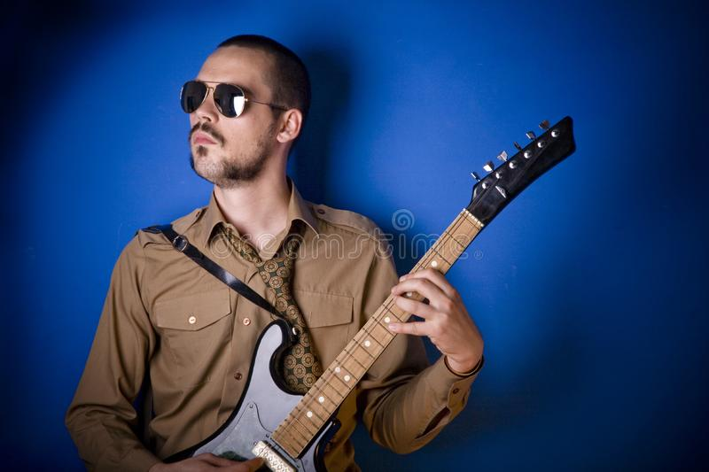 Cool guitar player stock images