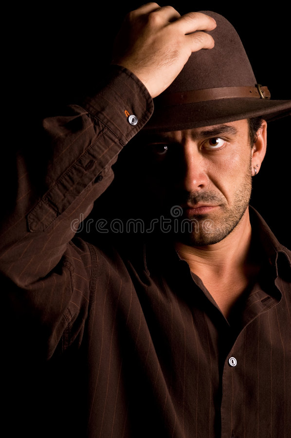 Download Cool guy with an attitude stock image. Image of eyes, mobster - 8467115
