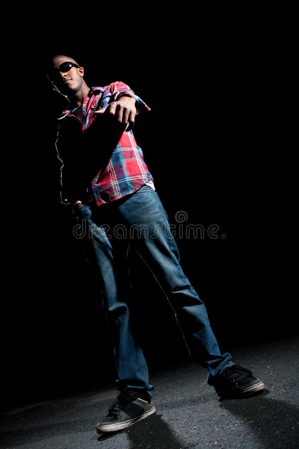 Download Cool Guy Pointing stock photo. Image of portrait, light - 23602868