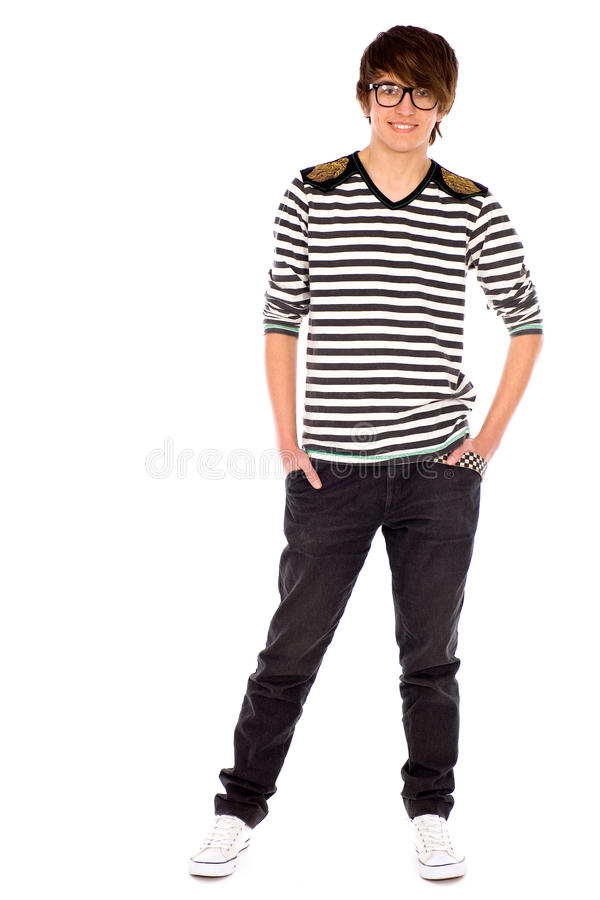 Download Cool guy wearing glasses stock photo. Image of jeans - 18838658