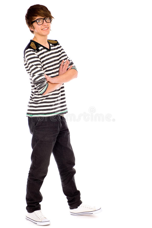 Download Cool guy wearing glasses stock photo. Image of full, teen - 18865194