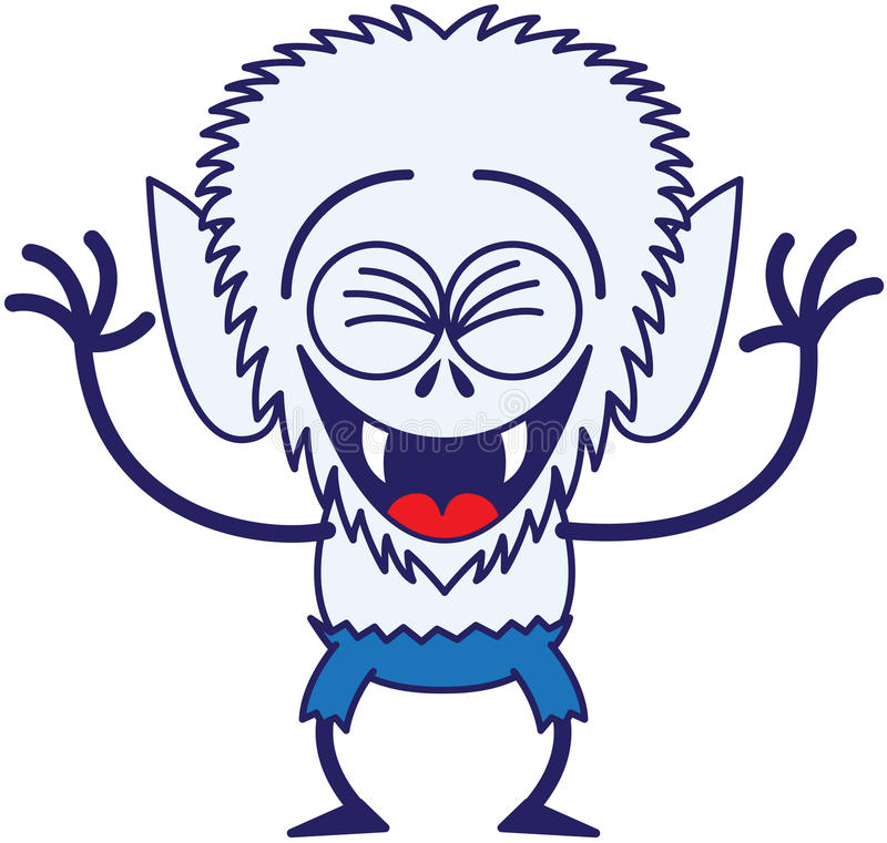 Free Cool Halloween Werewolf Laughing Enthusiastically Royalty Free Stock Photos - 45349138