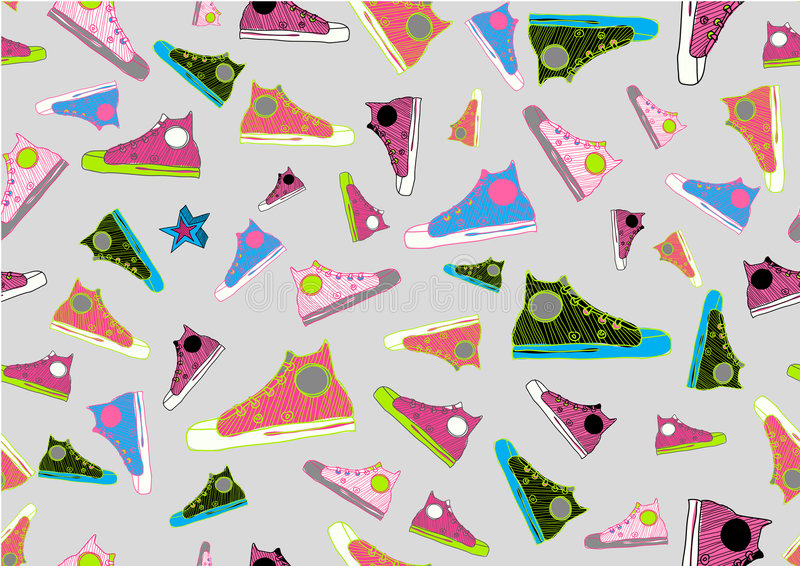Download Cool Hand-drawn Sport Shoes Stock Photos - Image: 6843843