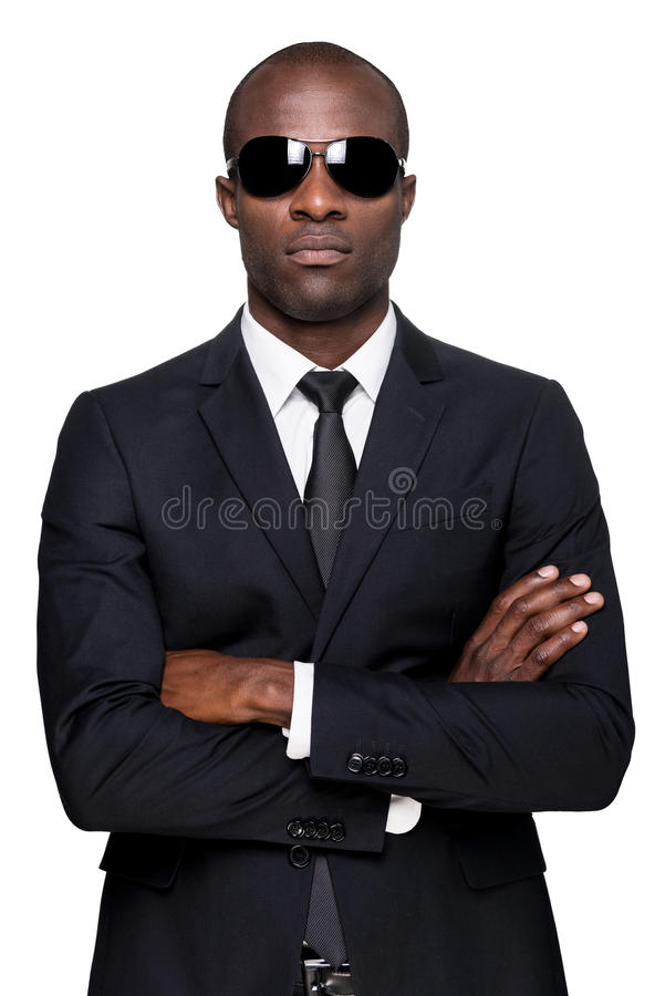 Cool and handsome. stock image
